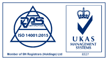 Environmental ISO 14001:2015 Accreditation logo