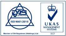 Quality Management ISO 9001:2015 Accreditation logo