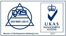 Quality Management ISO 9001:2015 Accreditation logo